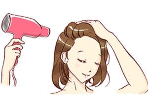 將髮根吹乾