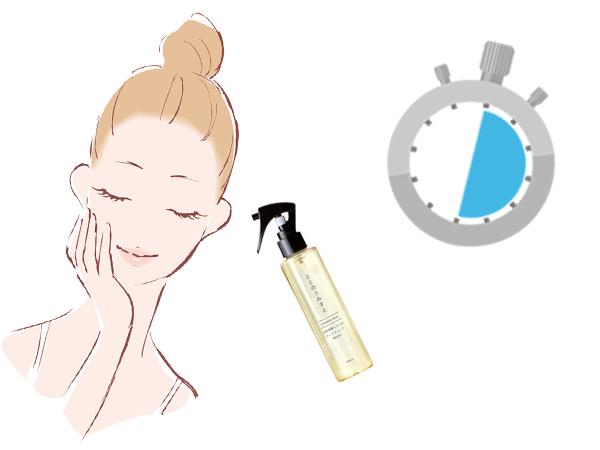 只要30秒的淨透顏毛孔緊緻噴霧的使用方法