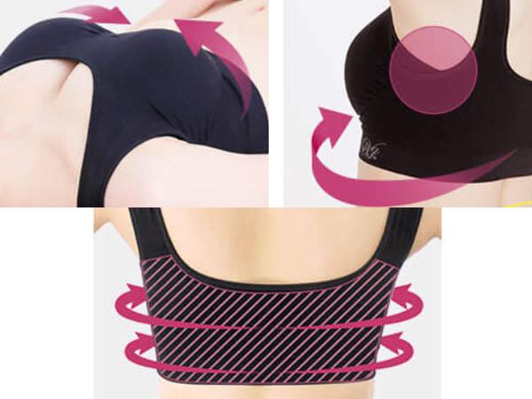 Viage晚安立體美型內衣止胸部下垂和副乳的4個設計
